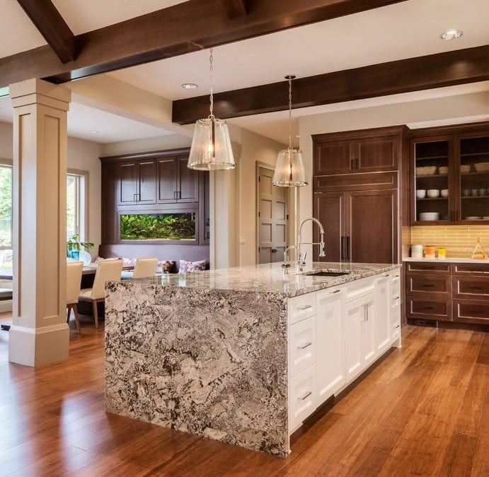 Waterfall Edge in the Kitchen
