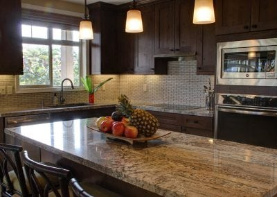meal prep in an open floor plan kitchen
